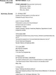 Best Resume Format For Assistant Professor by Cv Language Skills Mother
