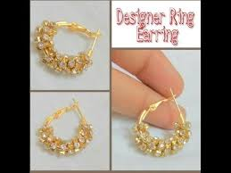 ear ring photo how to make ring type earring at home tutorial