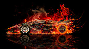 ferrari side ferrari fxx k side fire abstract car 2015 el tony