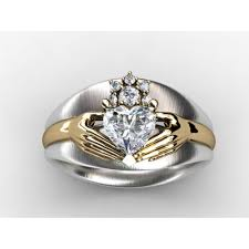 claddagh rings meaning custom diamond engagement ring jewelry setting without center