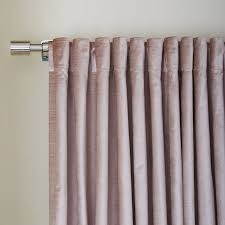 Blush Pink Curtains Cotton Luster Velvet Curtain Dusty Blush West Elm