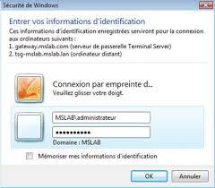 passerelle bureau à distance windows server 2008 terminal services gateway laboratoire