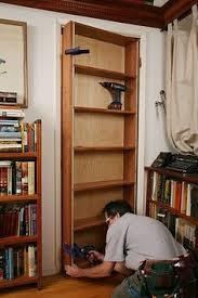 Swinging Bookcase How To Build A Hidden Door Bookcase Diy Pinterest Doors
