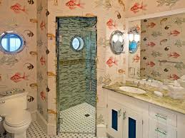 outhouse bathroom decor and wallpaper
