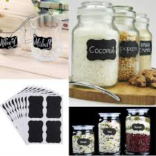 Kitchen Canister Labels 36x Mini Chalkboard Blackboard Vintage Stickers Craft Kitchen Jar