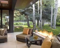 tasty outdoor backyard patio ideas with great brick fireplace