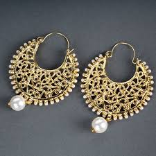 archies earrings pearl beauty chandbali earring at best prices in india