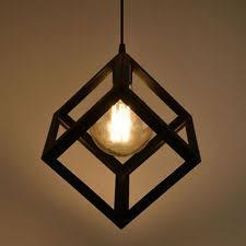 Edison Ceiling Light Vintage Diamond Shape Pendant Light Geometric Edison Cage Ceiling
