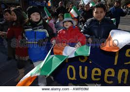 marchers in st patrick u0027s day parade yonkers new york stock photo