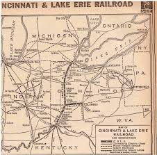 Map Of Cincinnati Cincinnati U0026 Lake Erie Rr System Map