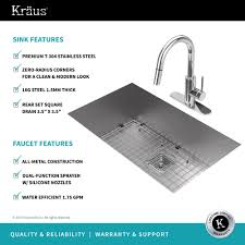 Kitchen Sink And Faucet Combo by Stainless Steel Kitchen Sink Combination Kraususa Com