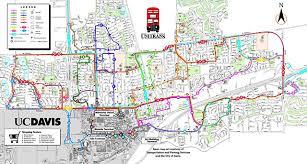 davis map unitrans at 40 moving students through the decades
