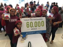 500 ismaili volunteers of all ages assembled 80 000 meals