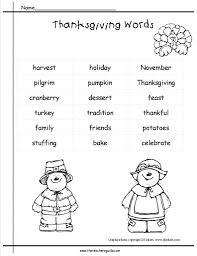 kindergarten thanksgiving printouts and worksheets kindergarten