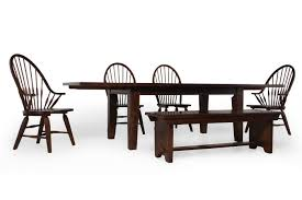 broyhill attic rustic oak six piece dining set mathis brothers