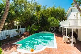 key florida usa march 2 2015 a pretty swimming pool