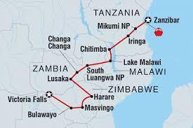Tanzania Map Tanzania Tours U0026 Travel Intrepid Travel Us