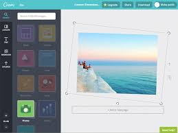 straighten your photo with canva