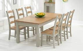 oak and grey painted dining table sets