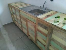 diy pallet kitchen cabinets pallet wood kitchen counter with sink 101 pallets