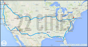 map your usa road trip an algorithm created the ultimate us road trip heres the map