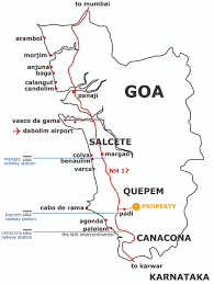 Goa Map Property Details Location Goa 50 Acre Property For Sale Goa