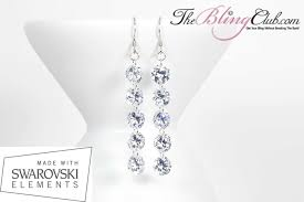 fabulous earrings fabulous sterling silver platinum swarovski 5 drop earrings