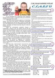 social media 10th grade test esl worksheets of the day