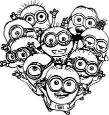 minion palm tree coloring pages