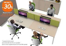 lignes bureau mobilier de bureau pour open space pour 4 personnes et écrans