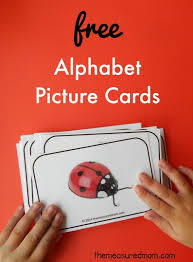printable alphabet letter cards free picture cards for learning alphabet sounds the measured mom