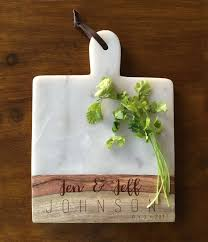 personalized cheese cutting board marble and wood engraved cheese board personalized cheese board