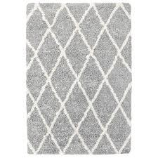 Area Rugs Gray Shop Carpet Deco Loft Shag 5x7 Gray Trellis Gray Indoor Area