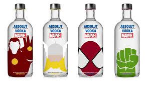 absolut vodka design designer features marvel heroes on absolut vodka bottles