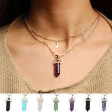 trendy necklace pendants images Wholesale 2017 fashion unicorn multi color natural stone quartz jpg