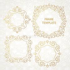 Art Frame Design Vector Decorative Line Art Frame For Design Template Stock Vector