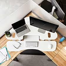 Fully Assembled Computer Desks by Amazon Com Varidesk Height Adjustable Standing Desk For
