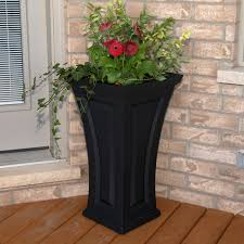extra large outdoor planters coral coast cape maye weathered eucalyptus wood 18 x 18 outdoor