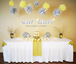 yellow and gray baby shower bird inspired baby shower yellow gray hostess with the mostess