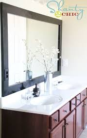 Frame For Bathroom Mirror by Best 25 Bathroom Mirrors Diy Ideas On Pinterest Framing Mirrors