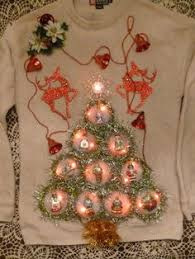lighted ugly christmas sweater xmas tree garland multi colored