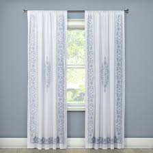 embroidered curtain panel white 54
