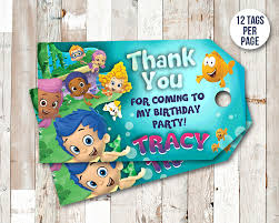 bubble guppies thank you tags bubble guppies favor tags bubble