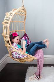 Hanging Seats For Bedrooms by Rattan Hanging Chair Girls Bedroom Simplified Bee