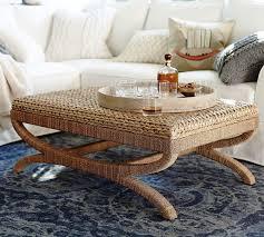 Ottoman Pottery Seagrass Coffee Table Ottoman Pottery Barn Furniture Hardwood