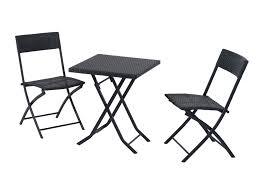 chaises pliables ensemble de jardin table chaises pliables résine tressée