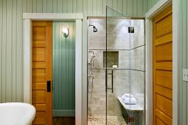 Interior Crawl Space Door Crawl Space Door Bathroom Beach Style With Wood Paneling Glass