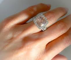10mm diamond morganite diamond halo pink morganite engagement ring cushion