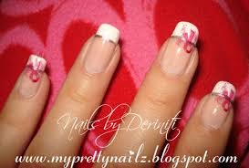 my pretty nailz breast cancer awareness french manicure breast