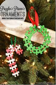 puzzle ornaments at thatswhatchesaid net crafts